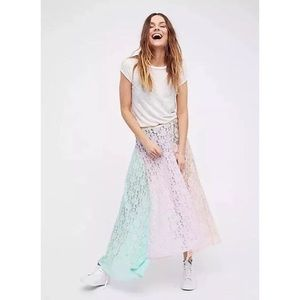 Free People Intimates Color Me Maxi Lace Skirt